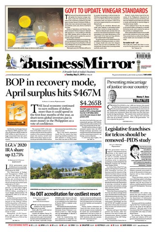 BusinessMirror May 21, 2019 by BusinessMirror - issuu