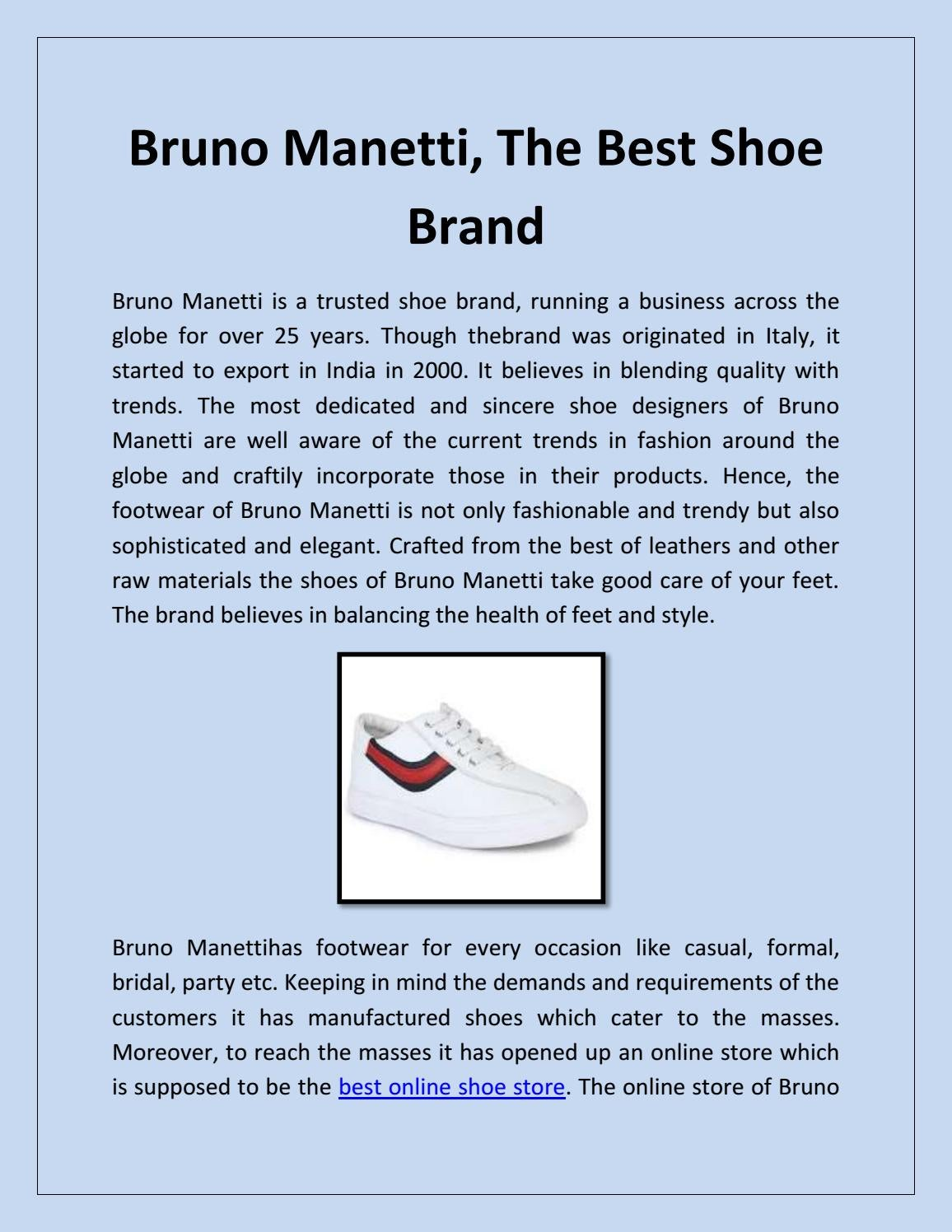 Bruno Manetti, The Best Shoe Brand by