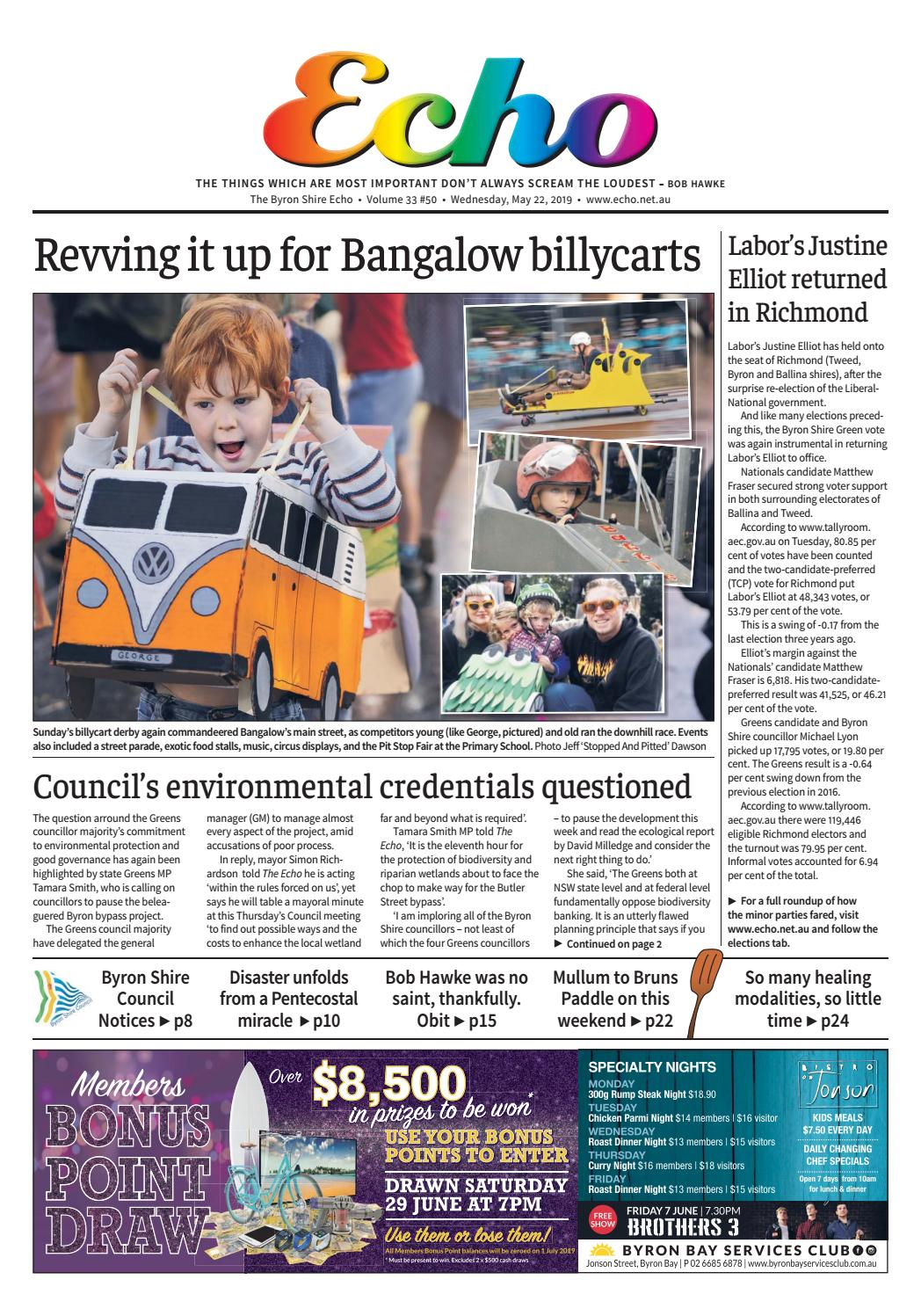 The Byron Shire Echo – Issue 33 50 – May 22, 2019 by Echo