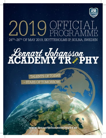 Matchprogram Lennart Johansson Academy Trophy 2019 by