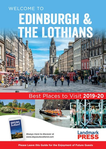 Welcome To Edinburgh And The Lothians Bedroom Folder 2019 20