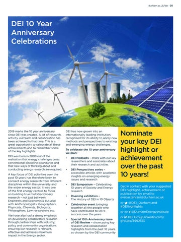 Page 5 of DEI 10th Anniversary celebrations