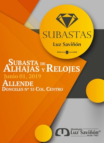 541610d47787 Subasta 04 mayo 2019 Allende by Montepío Luz Saviñón IAP - issuu