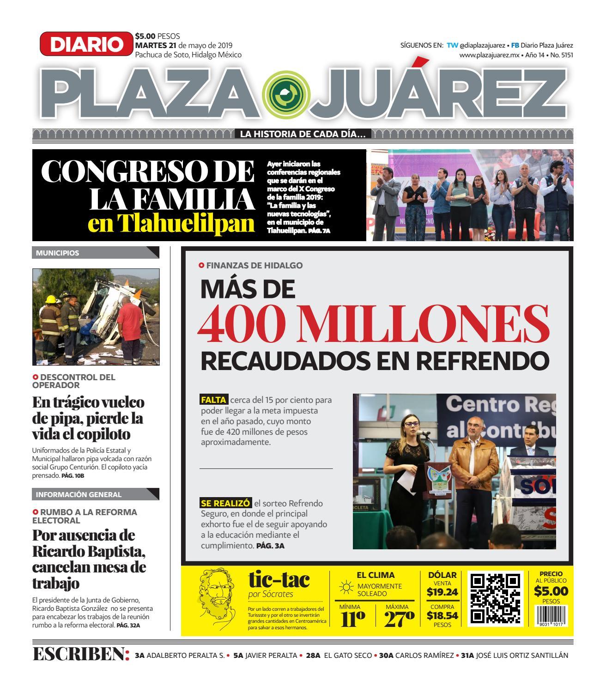 6f6f2c832a47 21-05-19 by Diario Plaza Juárez - issuu