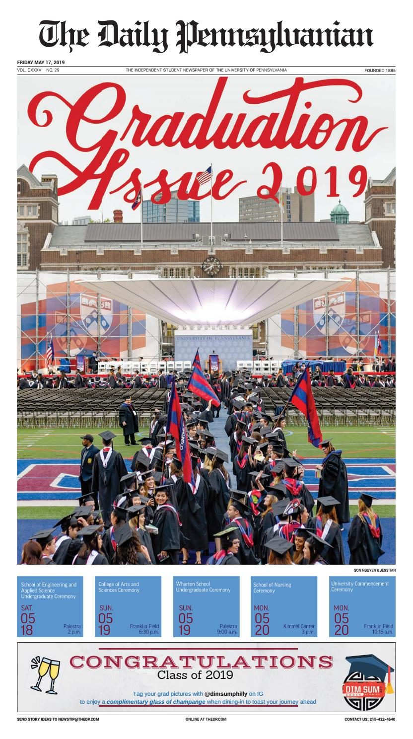 May 17, 2019 - Graduation Issue by The Daily Pennsylvanian - issuu