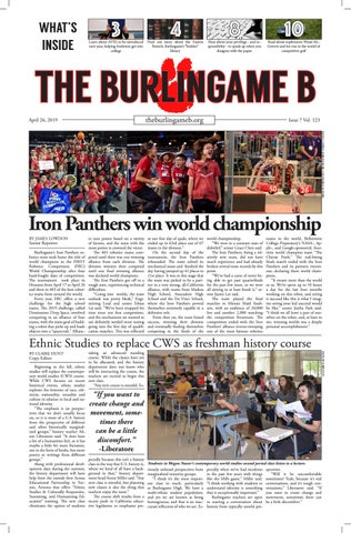 April Issue 2019 by The Burlingame B Newspaper - issuu