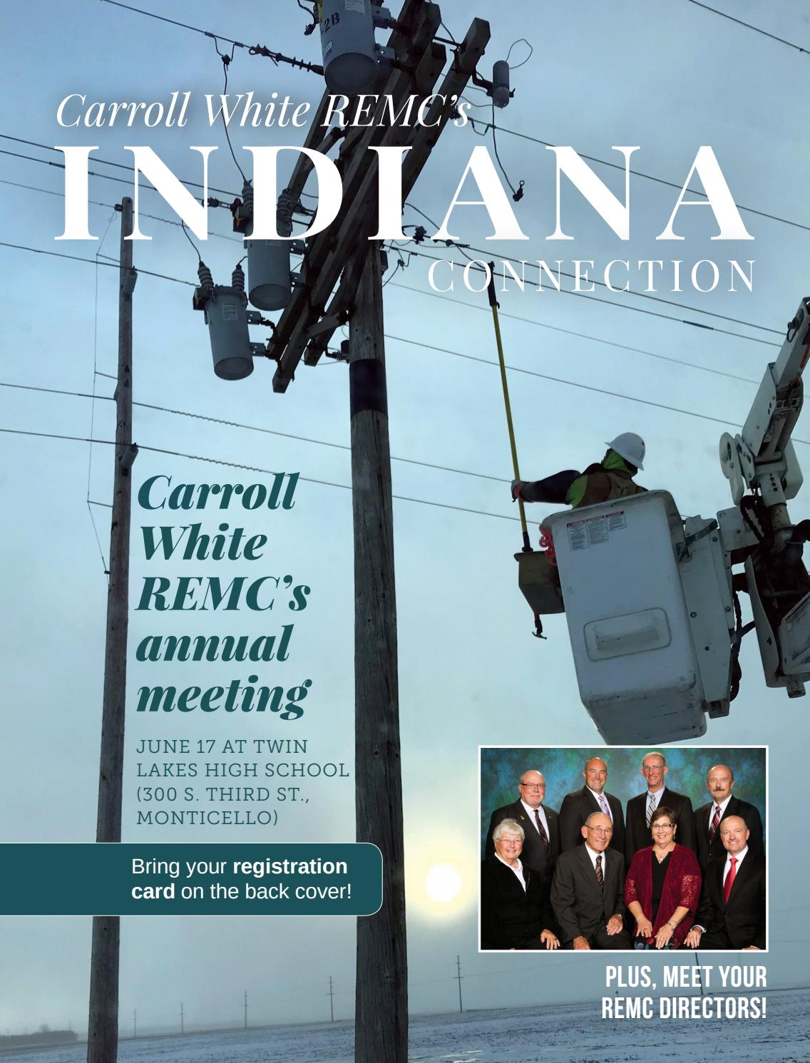 Carroll White REMC — June 2019 Indiana Connection by