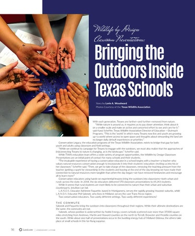 Page 40 of Wildlife by Design Classroom Presentations: Bringing the Outdoors Inside Texas Schools