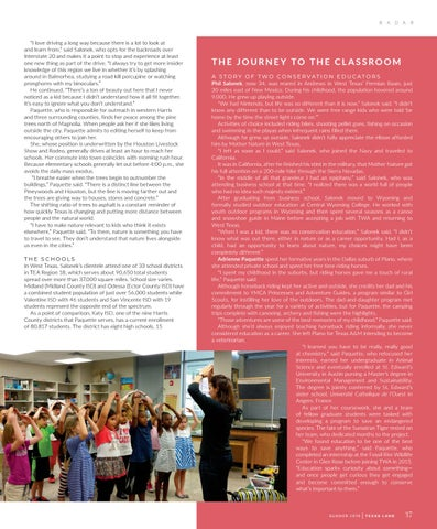 Page 41 of Wildlife by Design Classroom Presentations: Bringing the Outdoors Inside Texas Schools