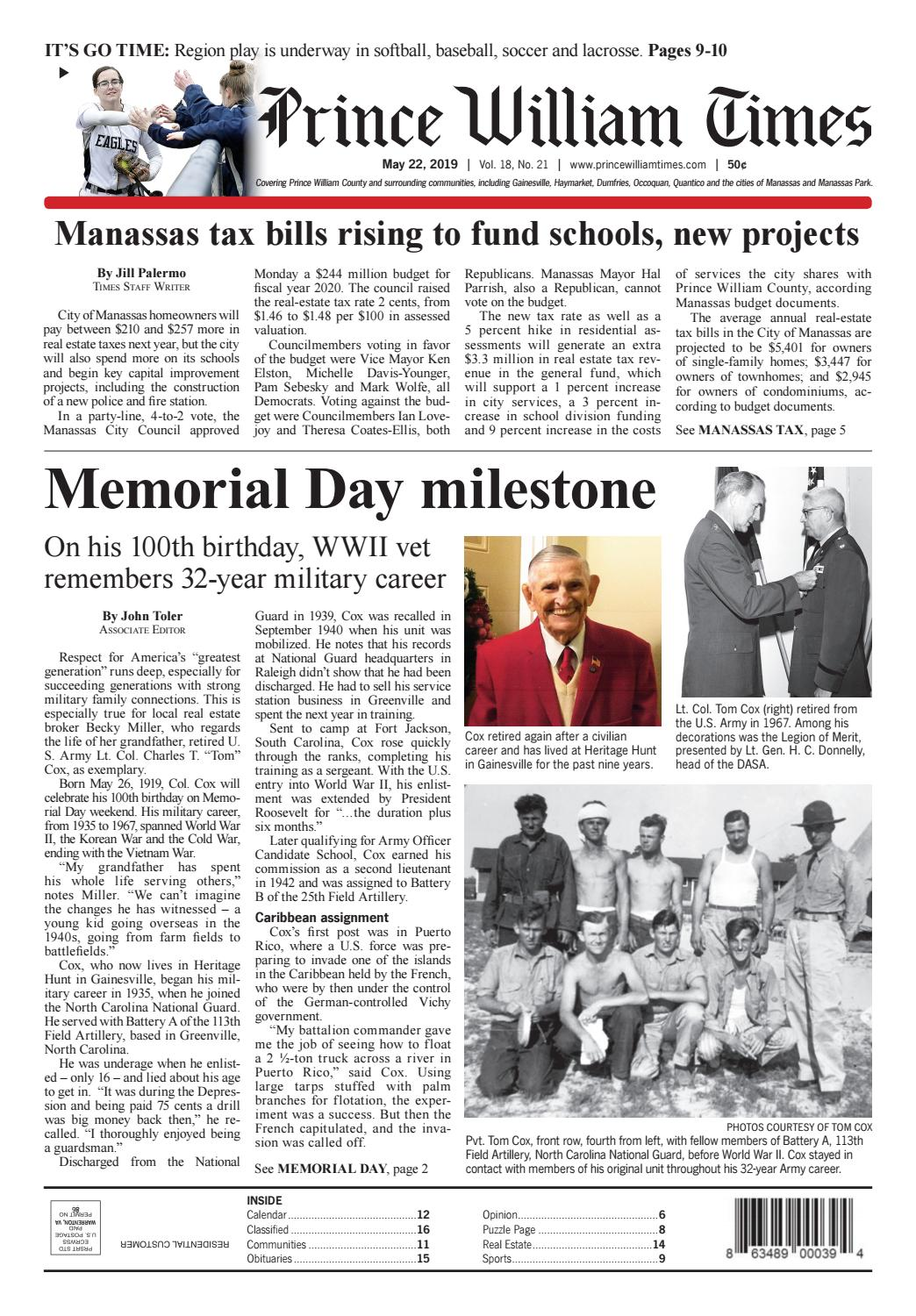 Prince William Times 05/22/19 by Fauquier Times - issuu