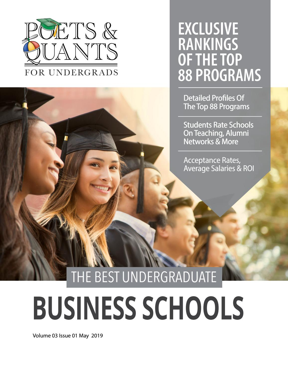 The Best Undergraduate Business Schools By Poets Quants Issuu