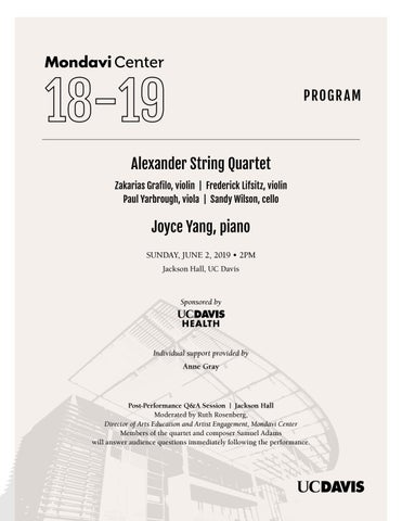 Alexander String Quartet with Joyce Yang by Robert and