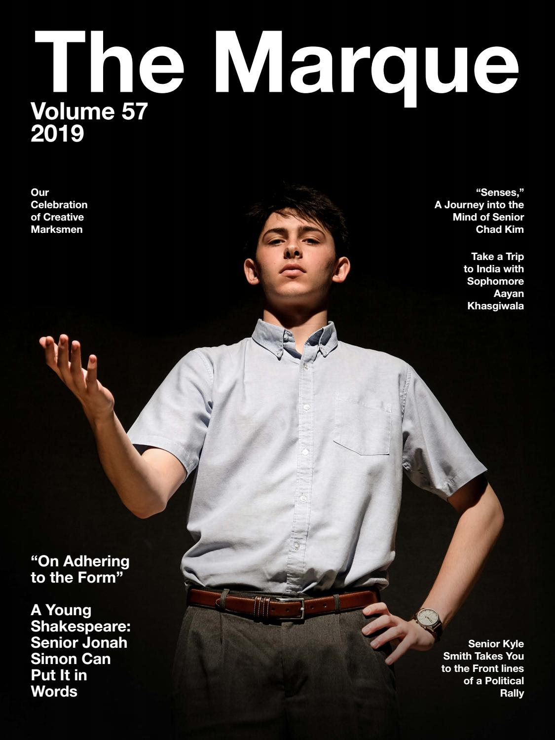 The Marque Volume 57 2018 2019 By St Mark S School Of Texas Issuu