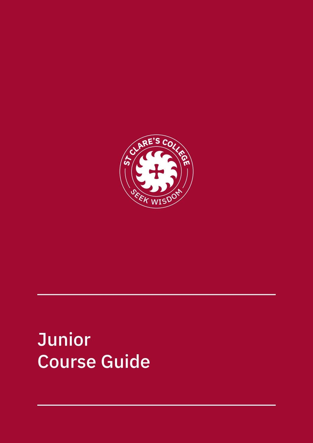 Junior Course Guide