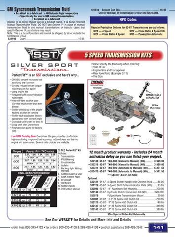 Corvette Central C2 (63-67) Corvette Parts Catalog