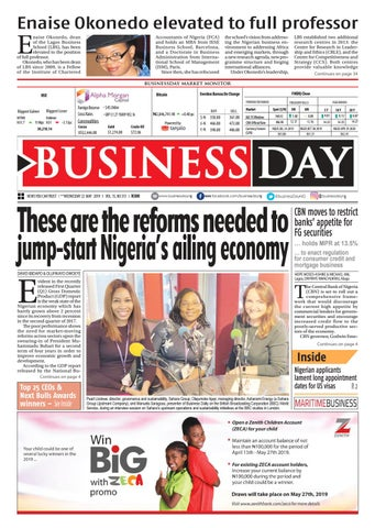 BusinessDay 22 May 2019 by BusinessDay - issuu