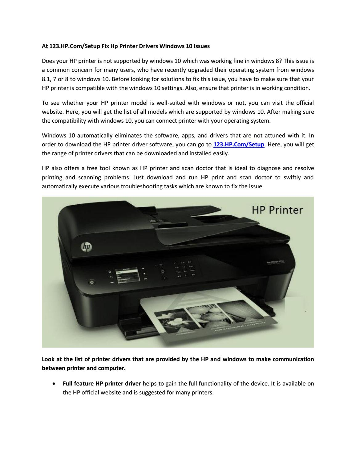 Download latest driver software for your HP printer from 123