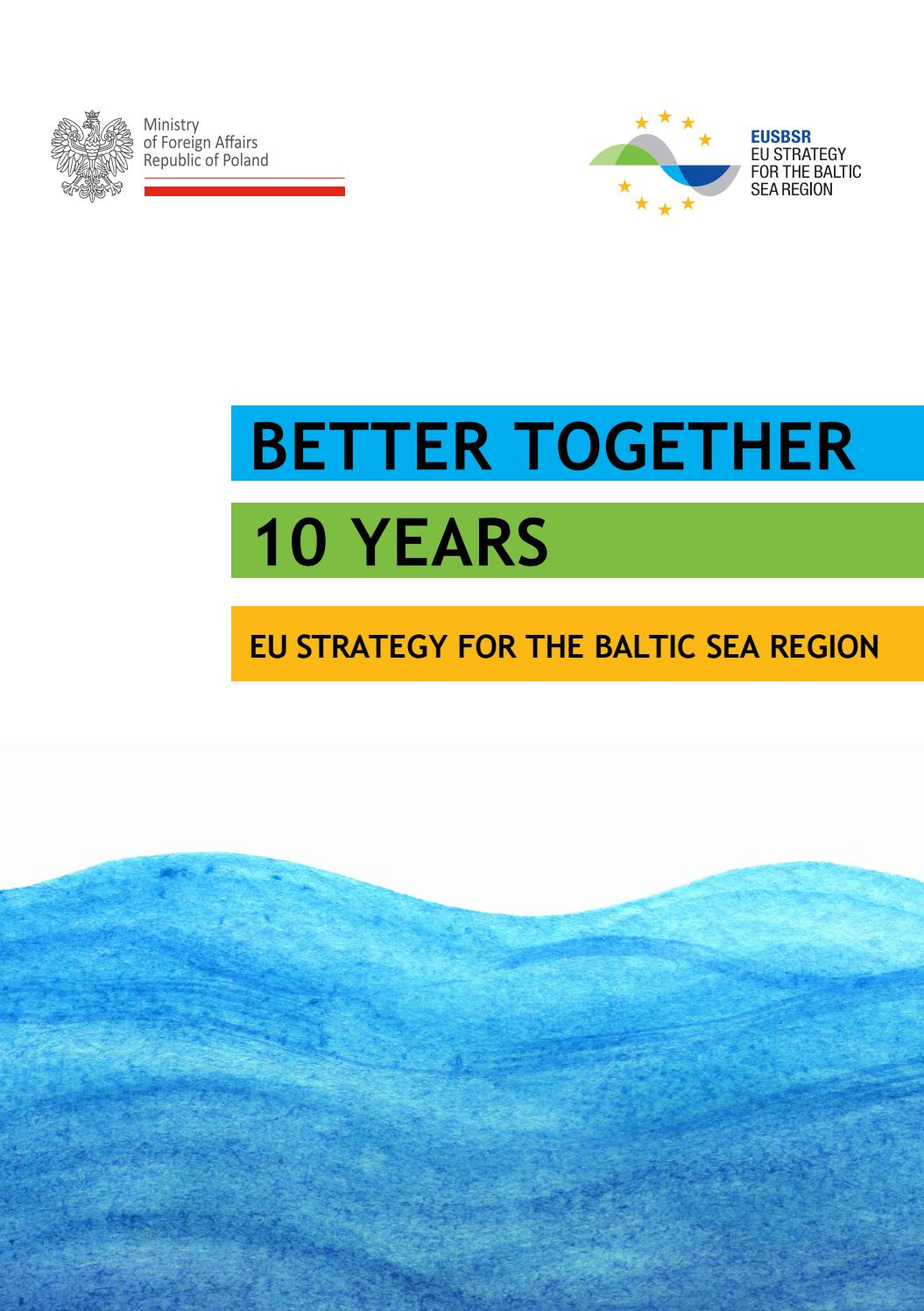 Better Together - 10 Years of the EU Strategy for the Baltic