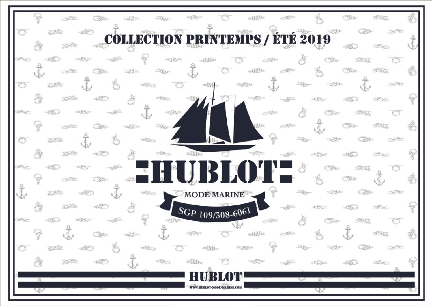 HUBLOT Marini/ère homme BASTIEN blanc//marine