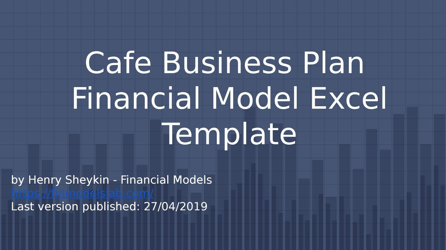 Cafe Business Plan Financial Model Excel Template By