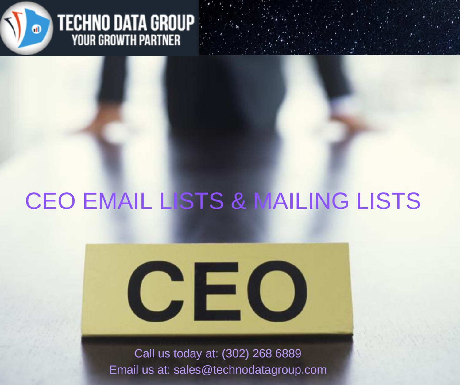 CEO Email Lists & Mailing Lists   Chief Executive Officer