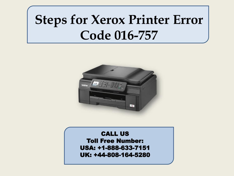 Xerox Printer Error Code 016-757 by katew8161 - issuu