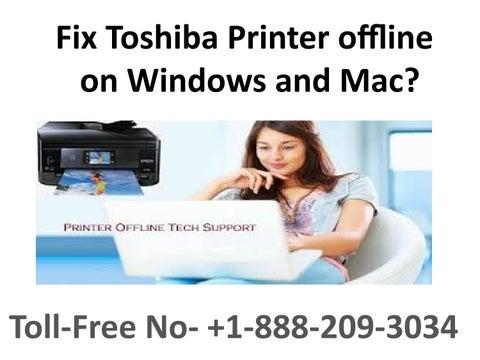 Getting Error Of Toshiba Printer offline on Windows and Mac? by