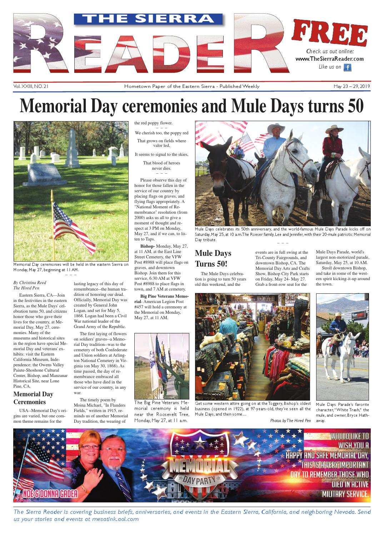 THE SIERRA READER MAY 23 2019 by The Sierra Reader - issuu