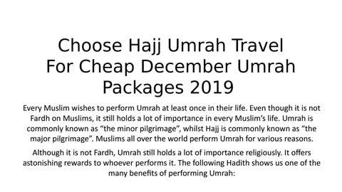 We Offer October November Umrah Packages UK For Our