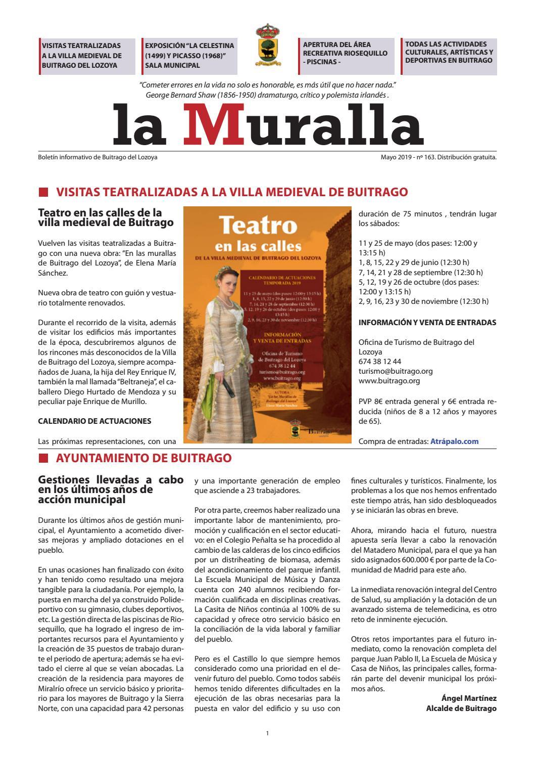 Calendario Atrapalo.La Muralla Mayo 2019 By Ayuntamiento De Buitrago Del Lozoya Issuu