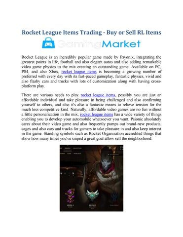 Rocket League Items Trading - Buy or Sell RL Items by Gaming