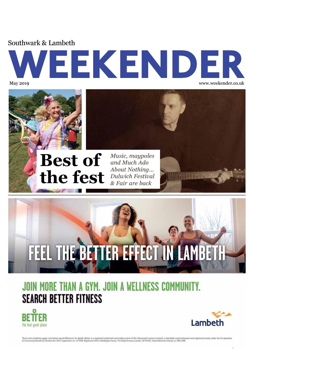 Southwark and Lambeth Weekender May 2019 by Southwark News