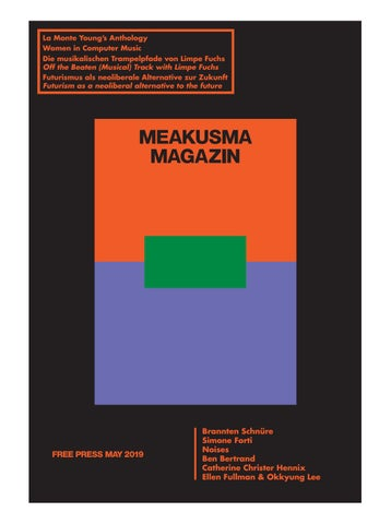 Meakusma Magazin 1 By Meakusma Magazin Issuu