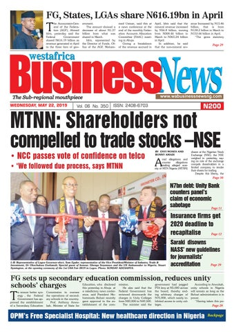 Westafrica BusinessNews Wednesday, May 22, 2019