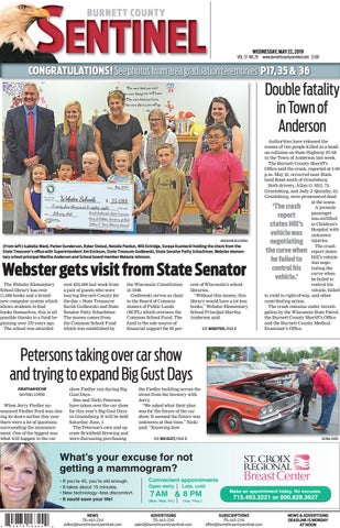 The Burnett County Sentinel 05-22-2019 by Burnett County Sentinel