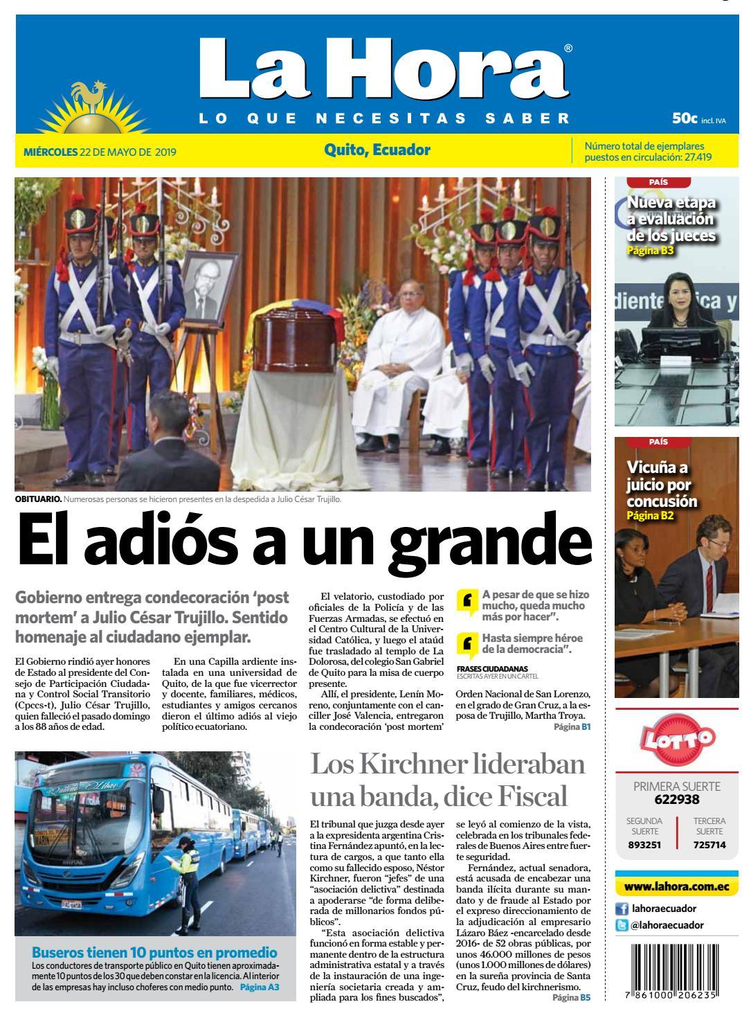 7927bc83 Quito, 22 de Mayo del 2019 by Diario La Hora Ecuador - issuu