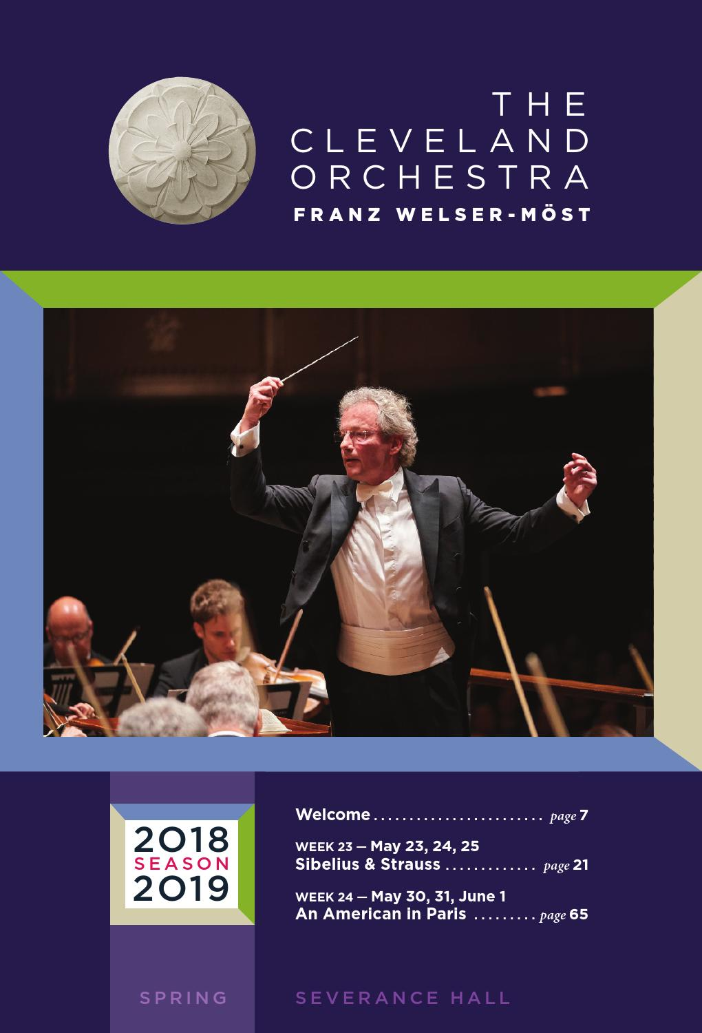 The Cleveland Orchestra May 23-25, May 30- June 1 Concerts