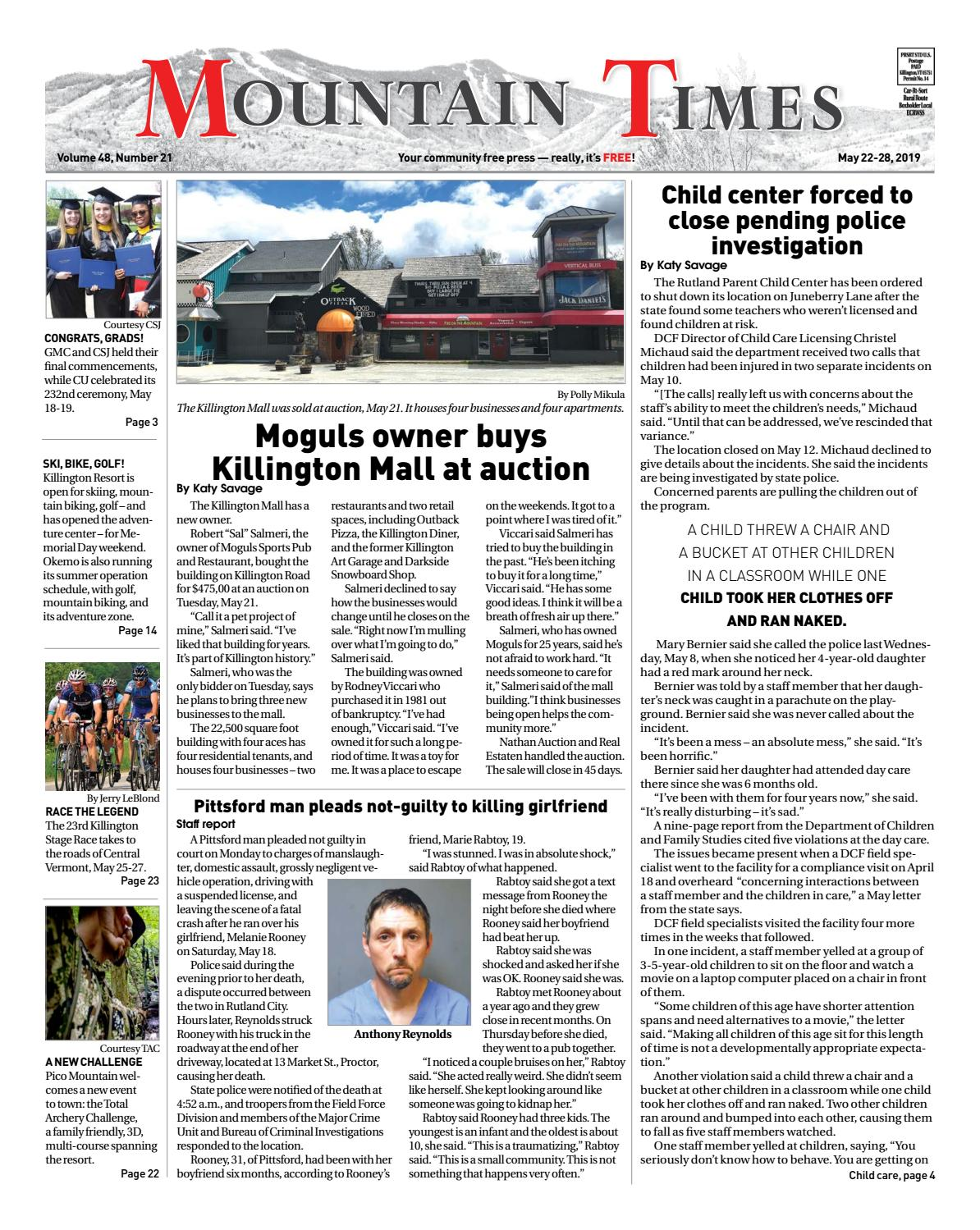 Mountain Times May 22-28, 2019 by Polly Lynn - issuu