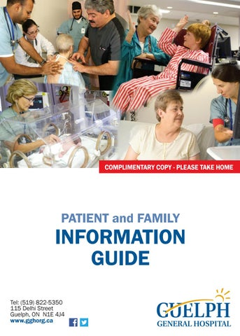 Guelph General Hospital Patient and Family Information Guide by