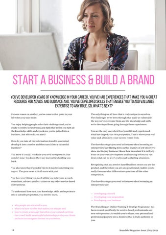 Page 18 of Start a Business & Build a Brand
