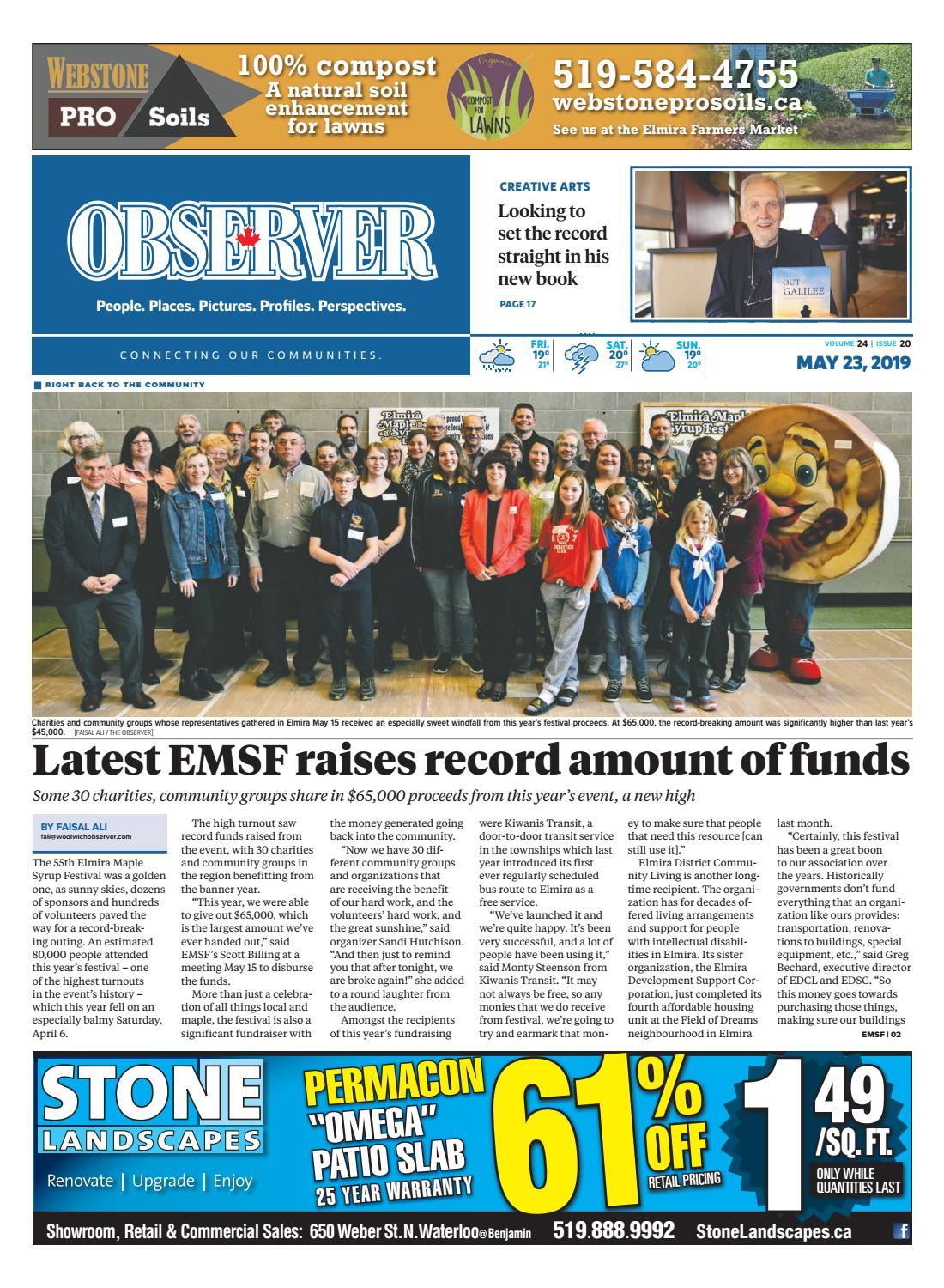582ab957 May 23, 2019 by Woolwich Observer - issuu