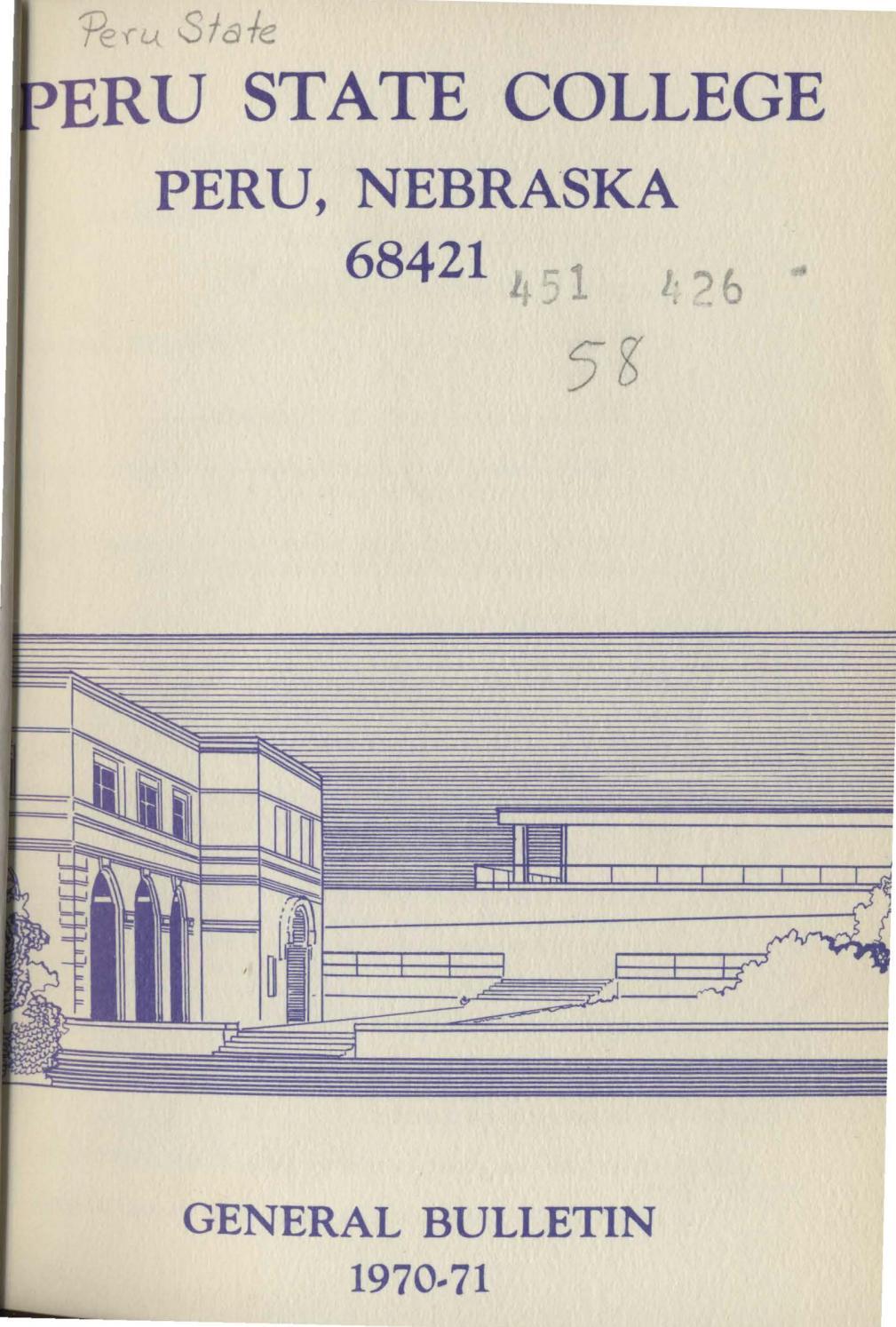 1970-1971 Catalog of Peru State College (Nebraska) by Peru