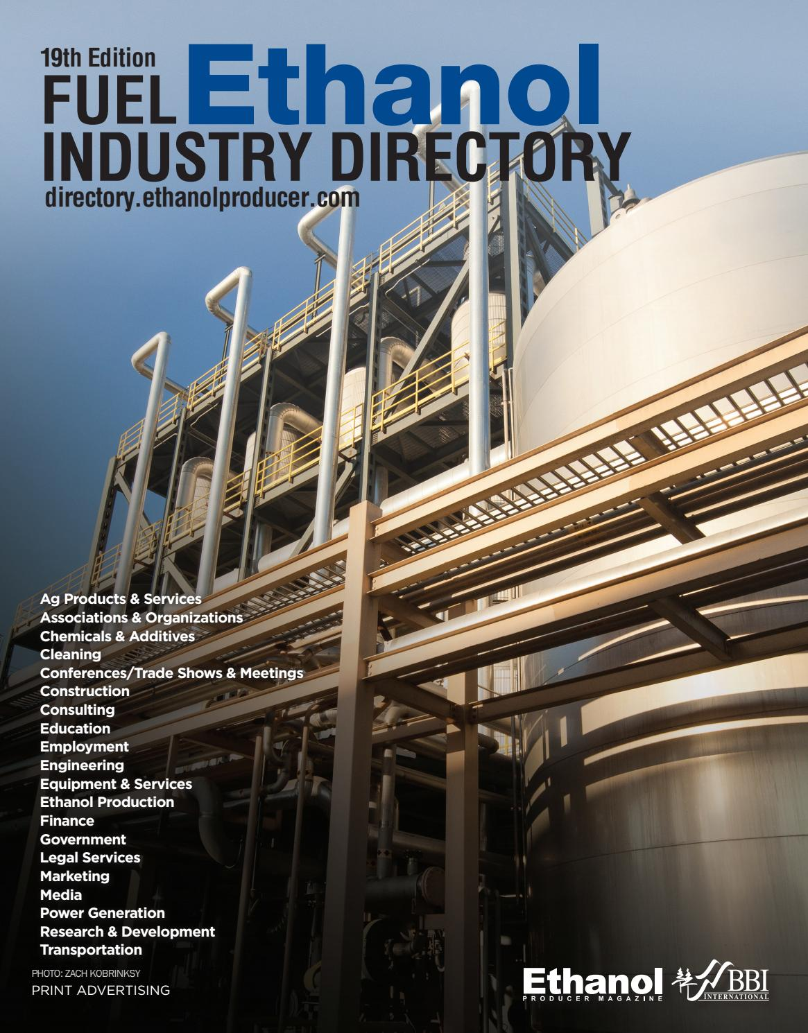 2019 Fuel Ethanol Industry Directory by BBI International