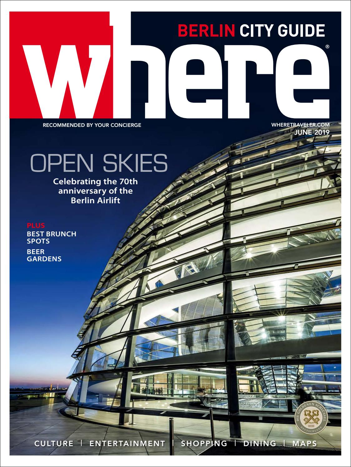 Where Magazine Berlin June 2019 by Morris Media Network issuu