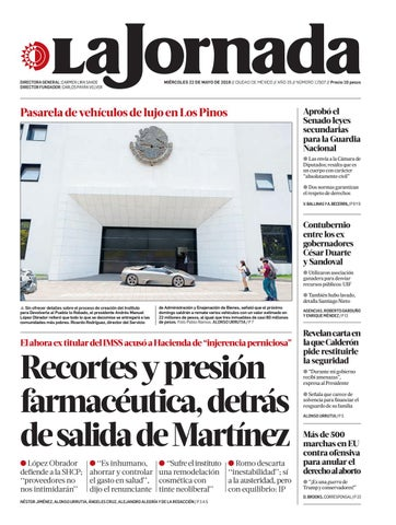 8638478121 La Jornada, 05/22/2019 by La Jornada - issuu