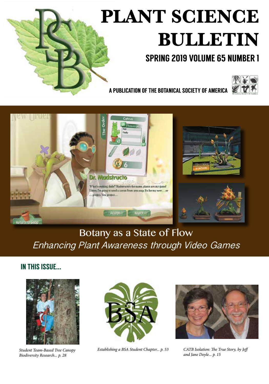 Plant Science Bulletin 65 (1) 2019 by Johanne Stogran - issuu