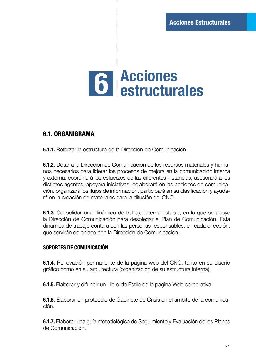 Plan De Comunicación Cnc 2018 2021 By Consejo Nacional De