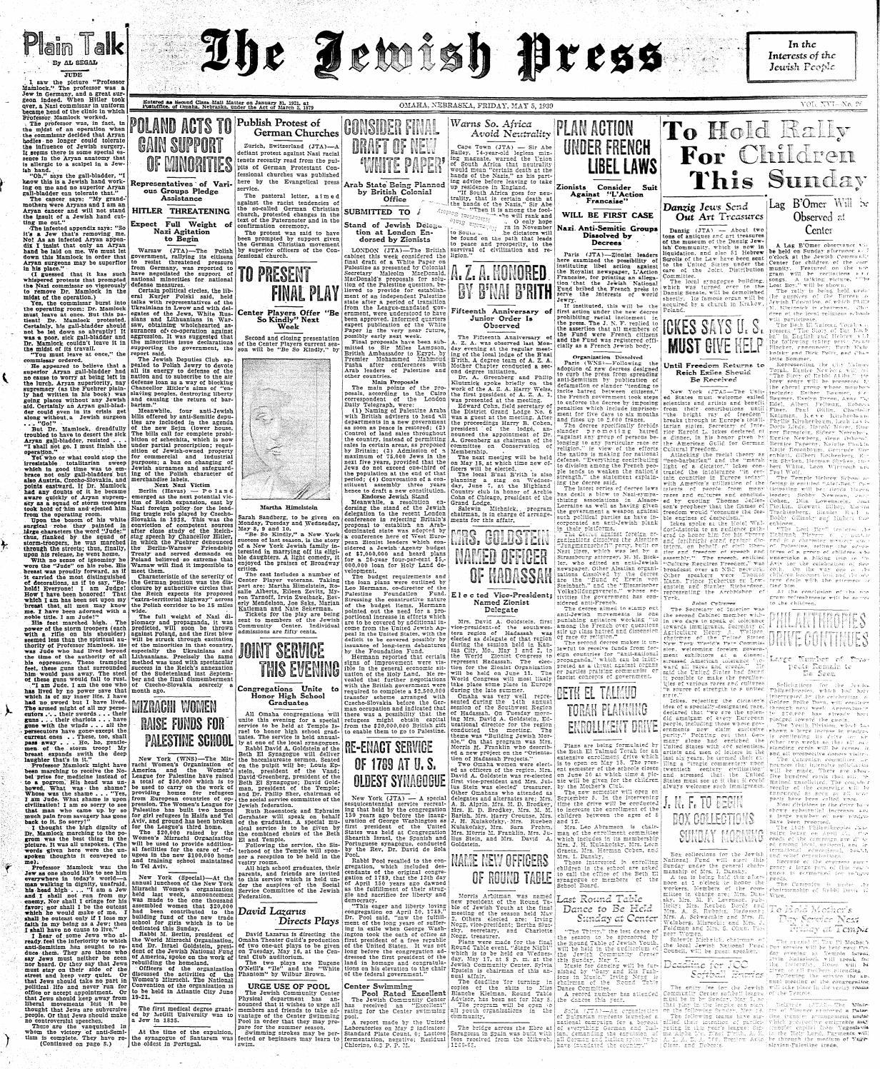 May 5, 1939 by Jewish Press - issuu