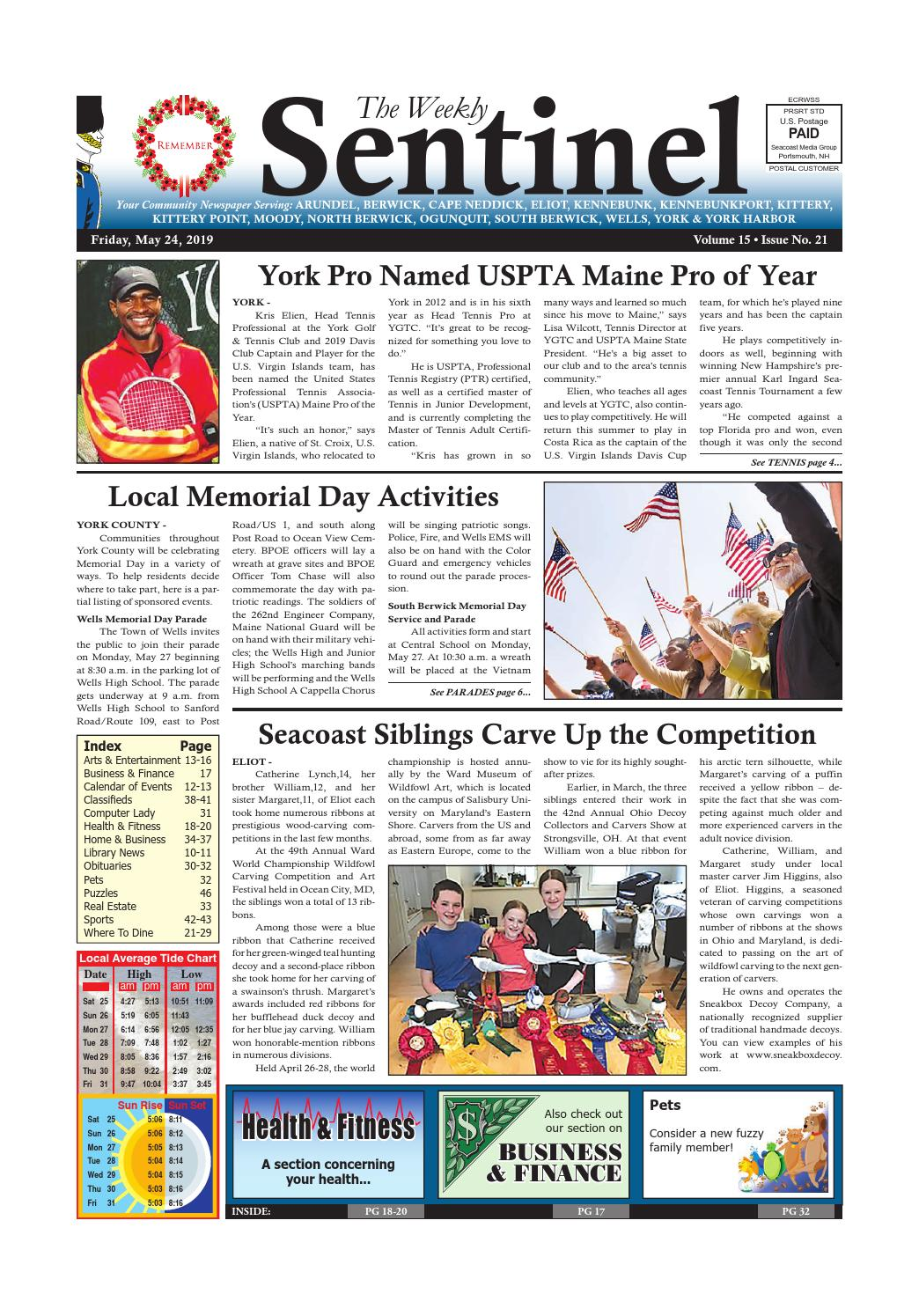 1e626d3f WS May 24, 2019 by Weekly Sentinel - issuu