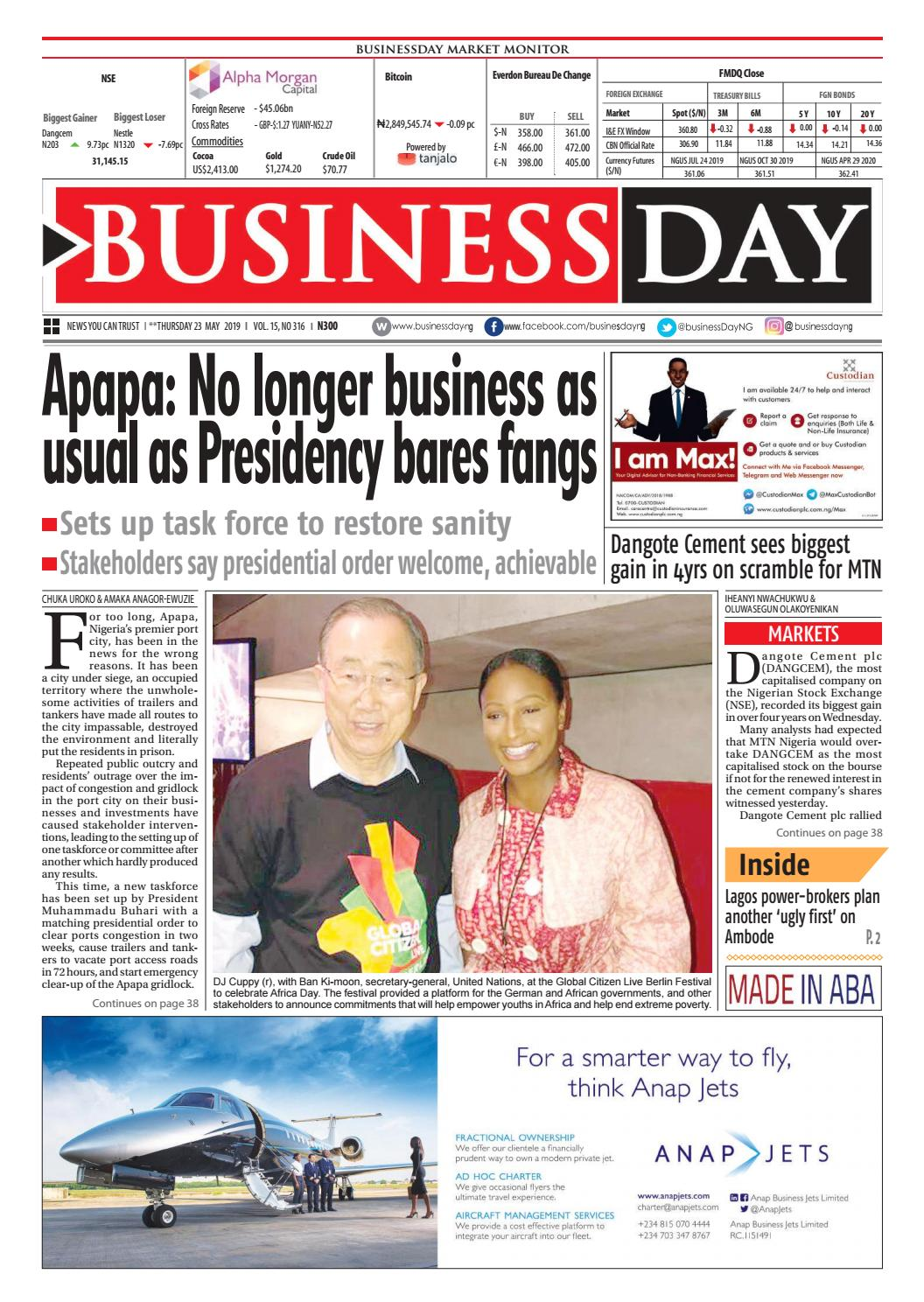 BusinessDay 23 May 2019 by BusinessDay - issuu